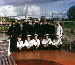 Team of Sheksna steamer, 1909   by Sergey Prokudin-Gorsky