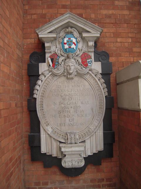 WW1 Memorial Liverpool Street Station