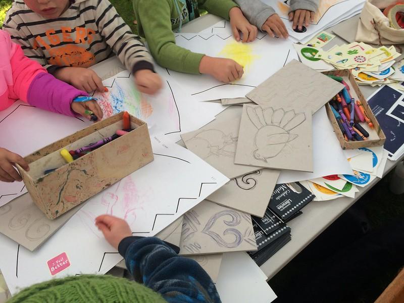 Kids colouring korowai maumahara