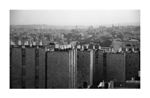 bw film analog buildings israel jerusalem roofs 400 ilford