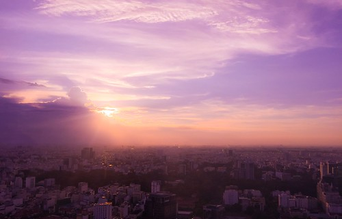 city sunset landscape mood skies vietnam amateur saigon nguyenhue bitexco iphone6 saigonskydeck
