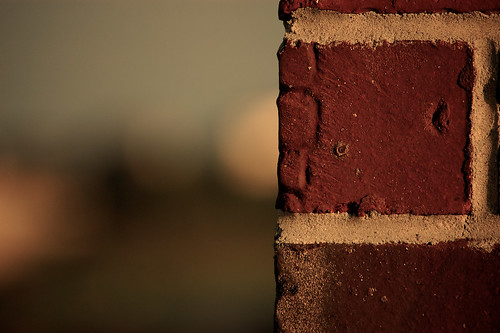 sunset bokeh bricks