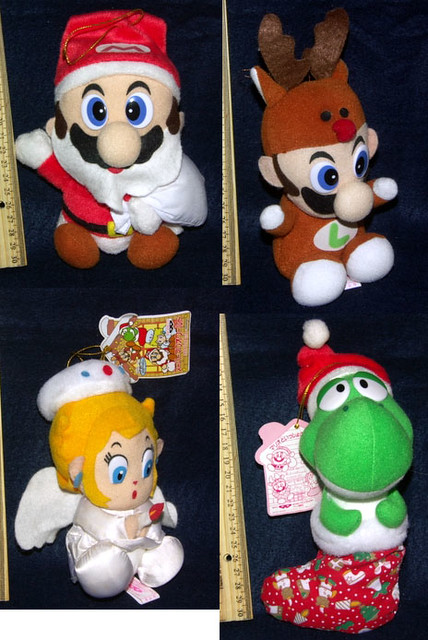 Super Mario World Christmas.Super Mario World Christmas Plush Set Spacepope4u Flickr