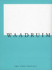 WAADRUIM : LEGENDA<br /> Nicolas Leus<br /> ISBN 97890-76593-08-1<br /> D/2007/8545/3<br /> copyright 2007 croxhapox,B-Gent<br /> copyright tekst en foto's : Nicolas Leus</p> <p>back
