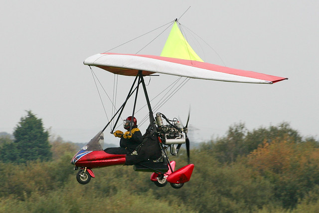 G-BYBO - 1998 build Meadway Microlights Eclipser, visiting Barton