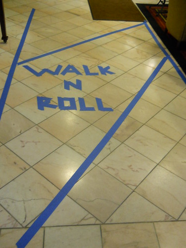 Accessibility lane at WisCon | by sandphin