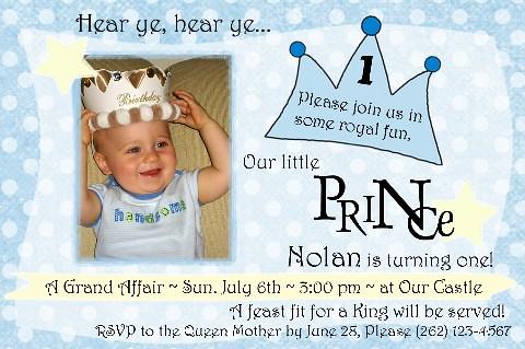 Nolan Little Prince 1st Birthday Invitation Amyscustomgree Flickr