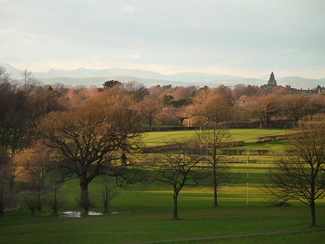 The English Lake District, seen from Lancaster University, UK