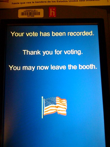 I voted   by Tanya R.
