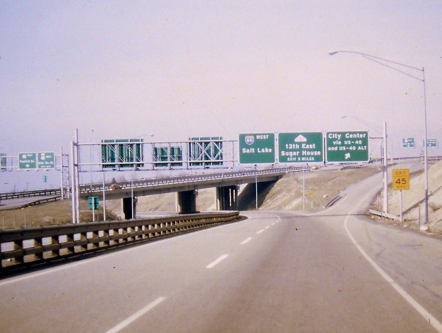 westbound I-80 at Foothill Drive, 1971