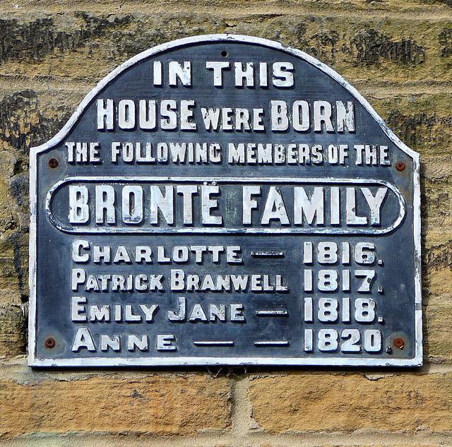 Bronte Birthplace plaque