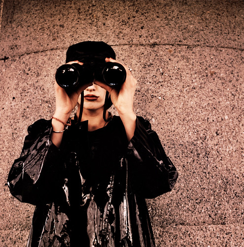 woman with binoculars | by electricnerve