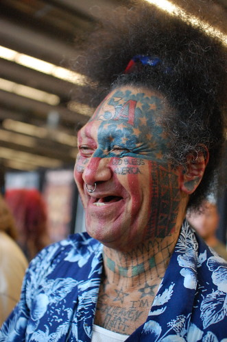 Seattle Tattoo Convention -- full face tattoo | photo by abb… | Flickr