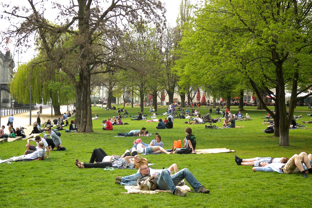 Im Park Abhängen