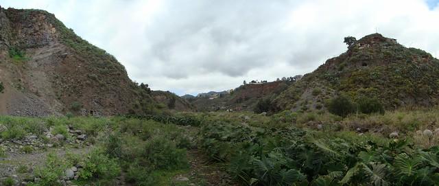 Barranco Real de Telde Gran Canaria Islas Canarias 17 panoramica