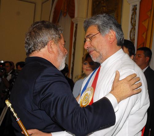 Saludo de presidente brasilero Lula, en el Palacio de López   by Fernando Lugo Méndez