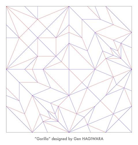 ゴリラ 展開図 / Gorilla CP   by Gen Hagiwara