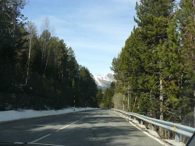 Carretera entre Canillo y Ordino (Andorra)
