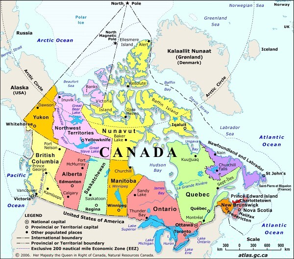 Canada Jpg Map Of Canada From The Natural Resources Canada