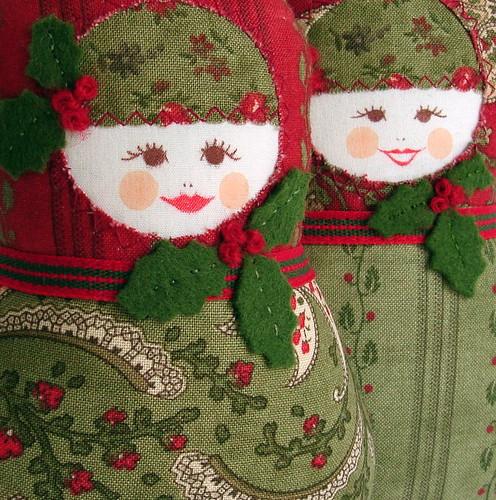 christmas babushkas   by Ravenhill Designs