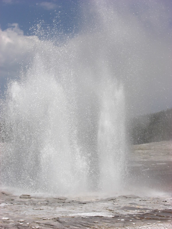 Plume geyser