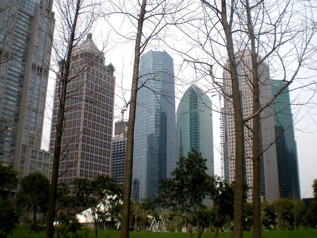 Golden Landmark Building, 上海黄金置地大厦, Wheelock Square / HSBC / IFC Tower (International Faith Capital), 上海国金中心, Sen Mao International Tower / HSBC Tower, Shanghai, 汇丰大厦 (上海森茂国际大厦) / 匯豐銀行大廈, 上海