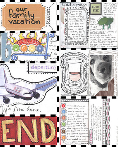 Travel Journal Collage of Pages and Details | by miscellaneaarts