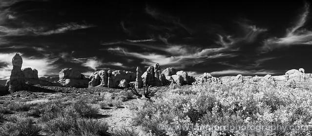 Arches Rocks IR Pano