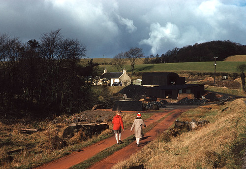 Coal merchant's yard, Tannoch Cottage, Glenhove (1958)   by The Douglas Campbell Show