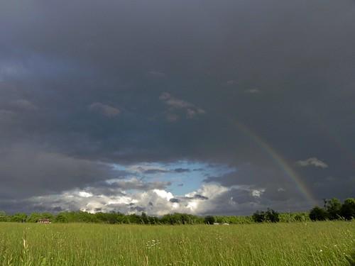storm field grass weather spring rainbow nikon day missouri thunderstorm ozarks doublerainbow lebanonmissouri lacledecounty localozarkian lacledecountymissouri missourithunderstorm nikoncoolpixp100 ozarkrainbow ozarkthunderstorm