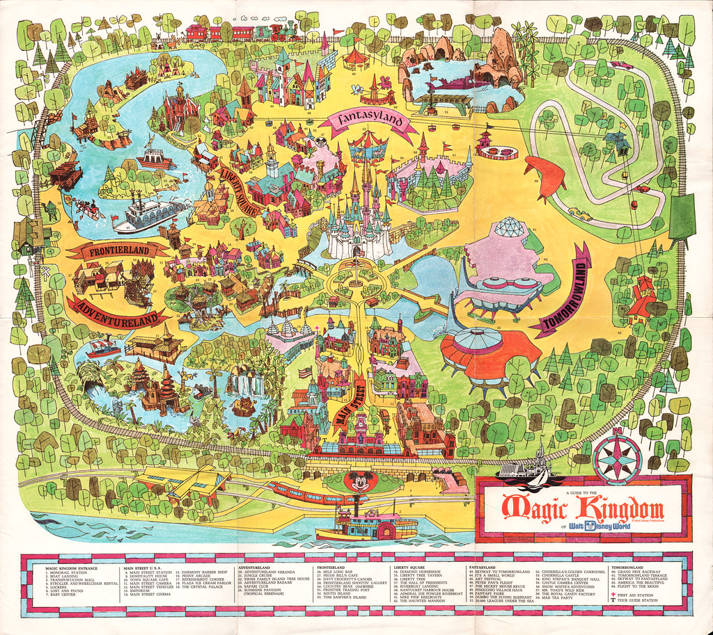 Walt Disney World Souvenir Park Map - Orlando Florida - 19… | Flickr