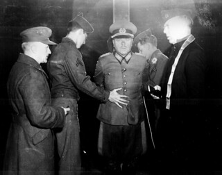 German General Anton Dostler is tied to a stake