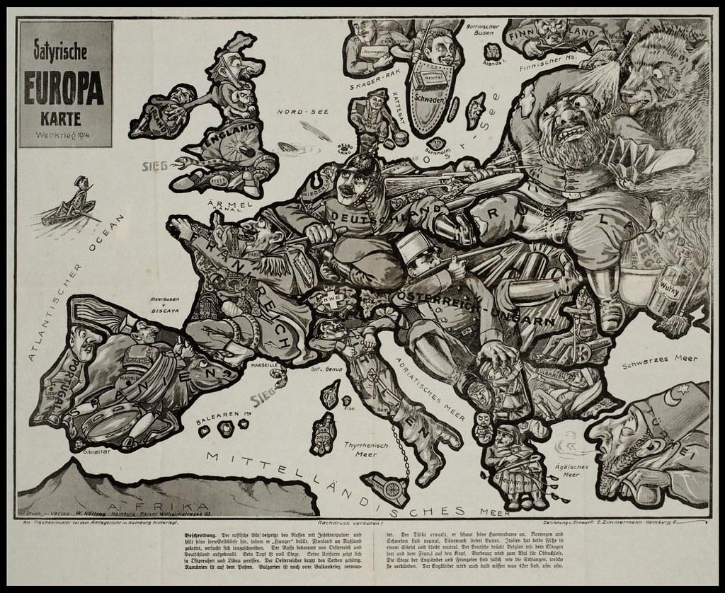Karte Von Europa 1914.Satyrische Europa Karte 1914 Bibliodyssey Blogspot Com 200