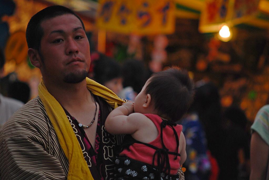 [春日部夏休み] Father & Baby