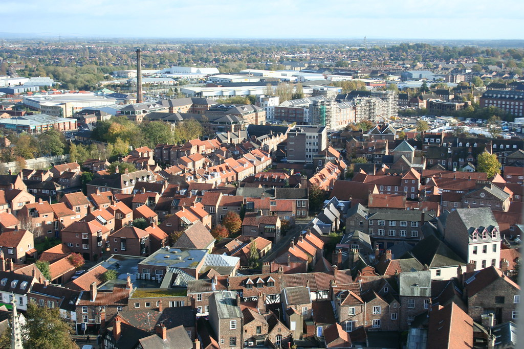 The view from the tower of York Minster