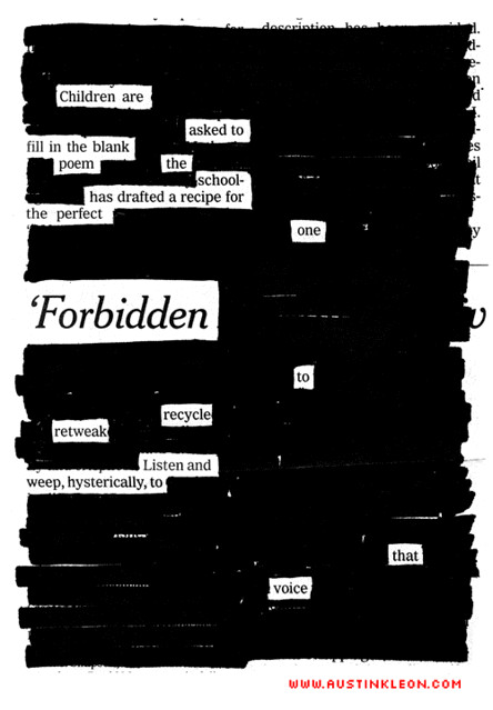 Newspaper Blackout Poems in the Classroom?