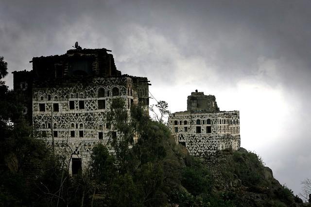 Yemen: Maisons du djebel haraz.