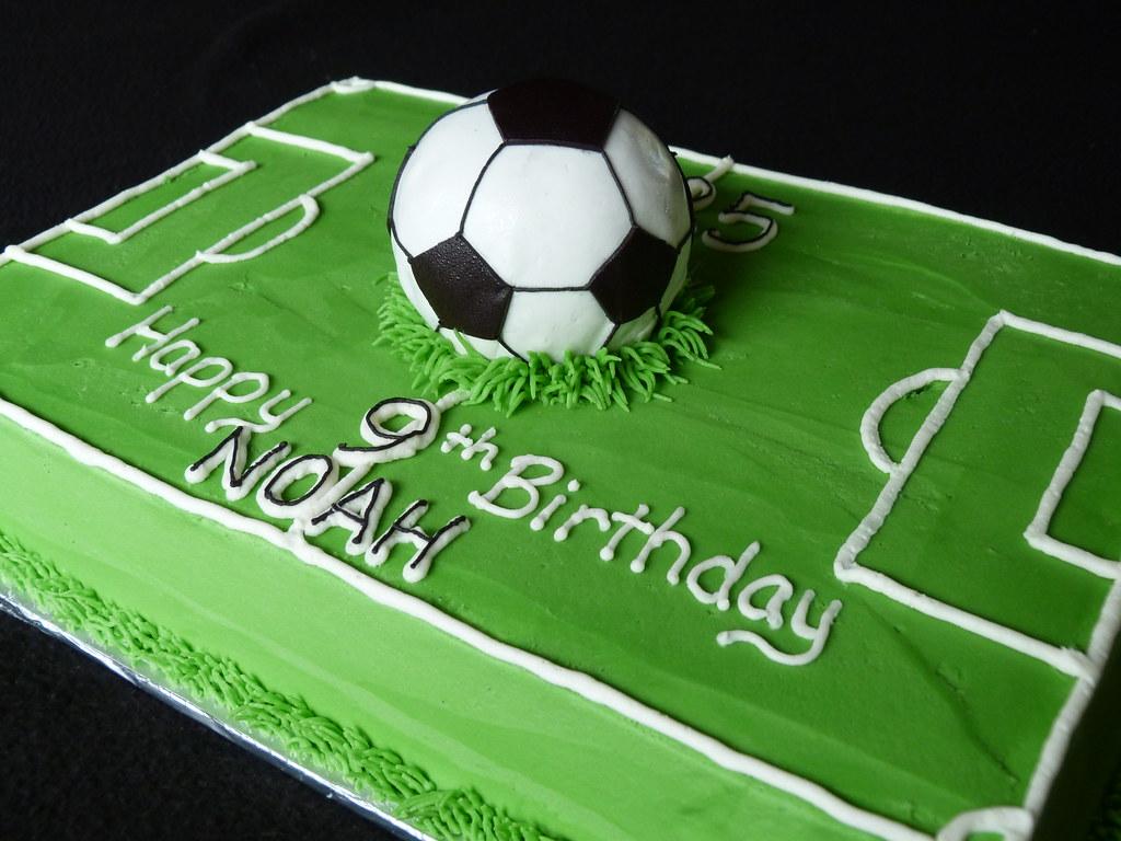 Pleasing Soccer Field One Giant Cake Ball Soccer Ball Fondant Cover Flickr Funny Birthday Cards Online Aboleapandamsfinfo