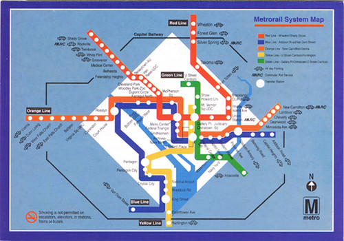 Washington DC Metrorail Map Postcard | kotarana | Flickr on