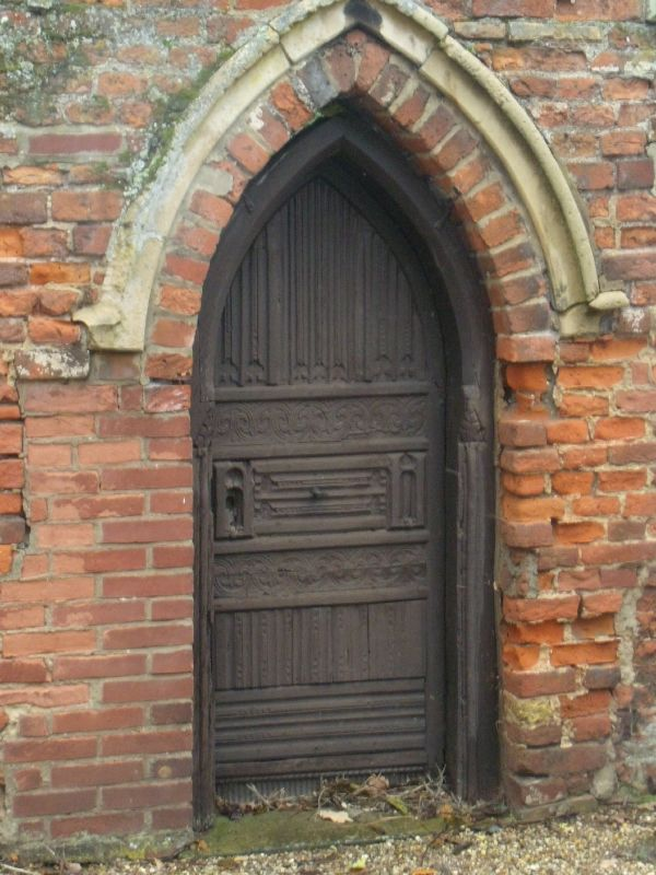 priory door Wakes Colne to Bures