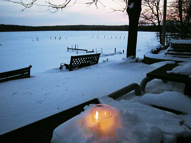 Lighting Our Solstice Candles In Wingra >> Lighting Our Solstice Candles At Sunset In The Subzero Win Flickr