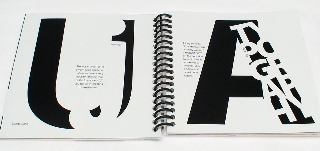Typography Book | This typography book was designed by Aaron