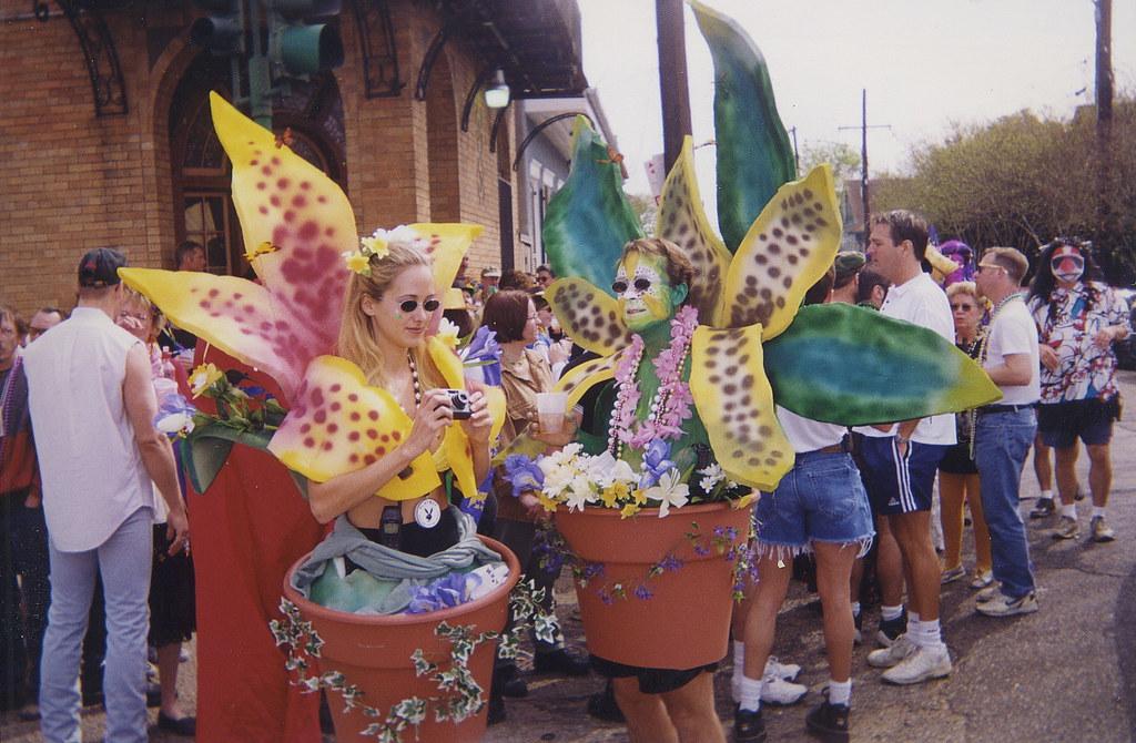 Mardi Gras Flowerpots