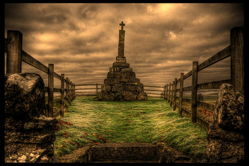 """'Maggie Wall burnt here 1657 as a Witch"" 