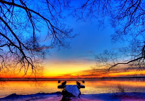 park trees ontario canada sunrise pier bath view olympus shore e3 hdr photomatix finkels platinumphoto mondocafeclub