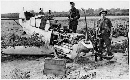 Messerschmitt bf109 abatido de Franz Von Werra