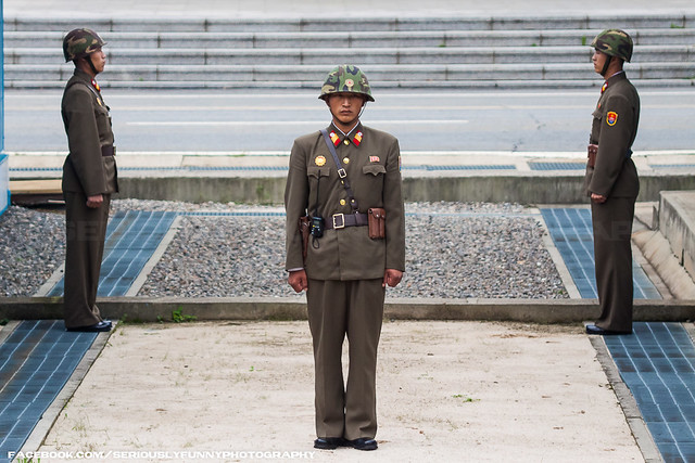 DPRK troops on guard at the border