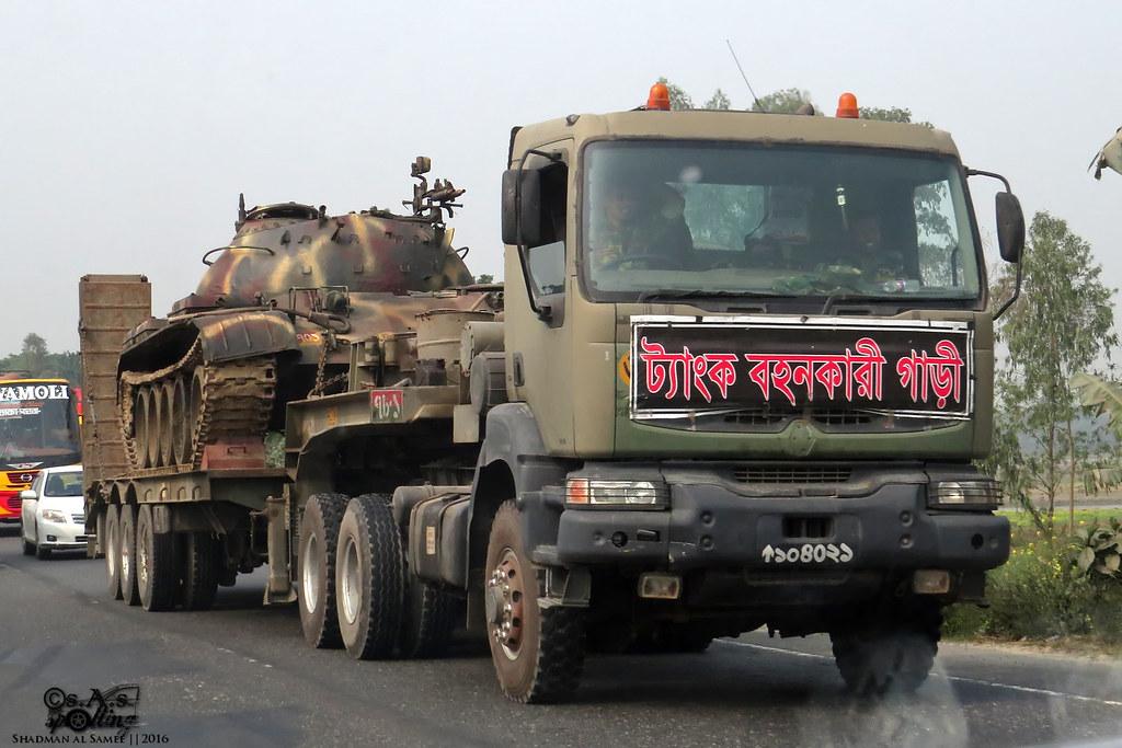 Bangladesh Army Renault Kerax 380 34t Tank Transporter Wit