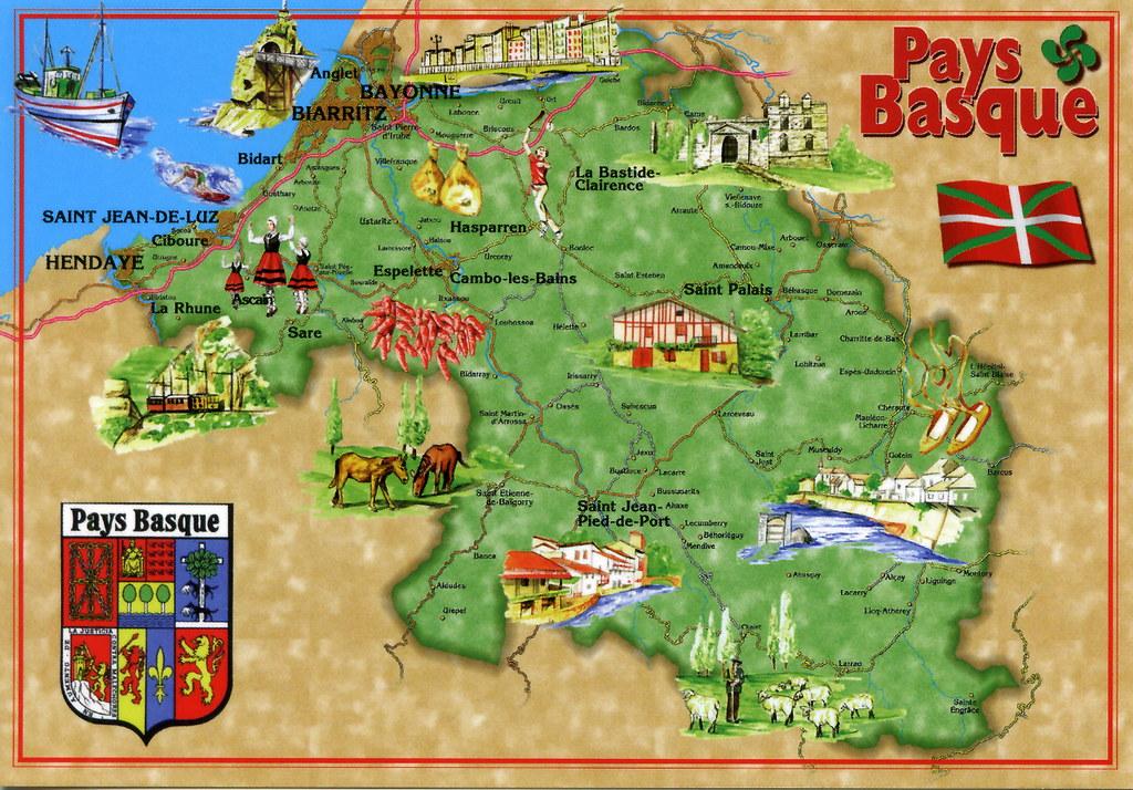Mapa Pais Vasco Frances.All Sizes Pais Vasco Frances Map Card 3 For Trade