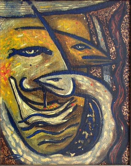 The immigrants tale' oil painting 2001